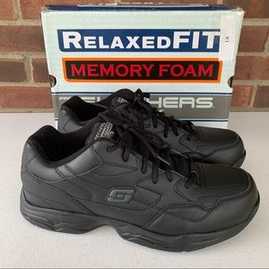 Skechers slip resistant relaxed fit work shoes